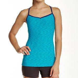 Lucy Heart Center Cami Workout Top New Large